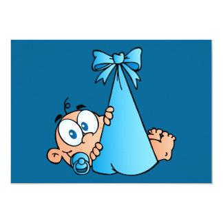 Babyjunge mit Schnuller Karte