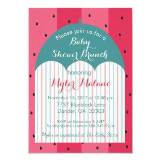 """Babyparty-Einladung """"Wassermelone-Regenschirm """" Karte"""
