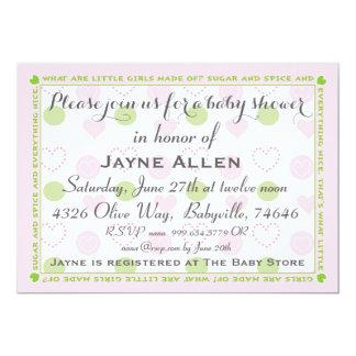 """Babyparty-Einladung """"Zucker und Gewürz """" 12,7 X 17,8 Cm Einladungskarte"""