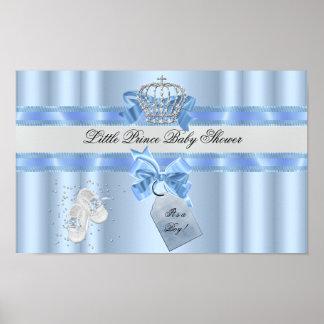 Babyparty-Jungen-blauer kleiner Prinz Crown 3a Poster