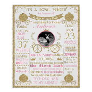 Babyparty-Prinzessinmädchenplakat-Zeichenfahne Poster