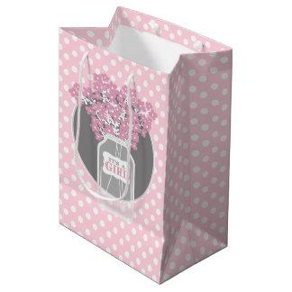 Babyparty-Weckglas (Rosa) Mittlere Geschenktüte