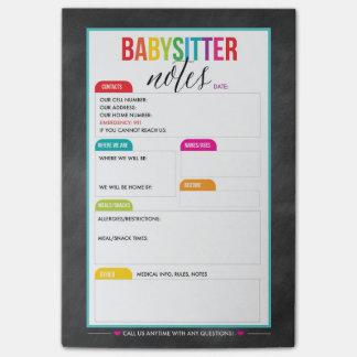 Babysitter-Post-Itanmerkungs-Notizblock für Eltern Post-it Klebezettel