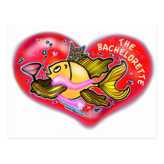 Bachelorette Henne-Party-Fische Postkarte