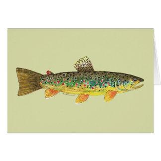 Bachforelle-Fischen Grußkarte