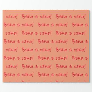 Backen Sie einen Kuchen Geschenkpapier