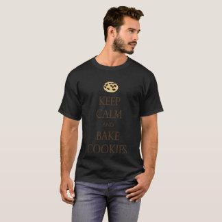 Backen-T-Shirt behalten Ruhe und backen Plätzchen T-Shirt
