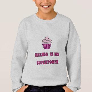 Backensupermacht-Rosakleiner kuchen Sweatshirt