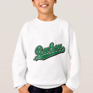 Bäcker im Grün Sweatshirt