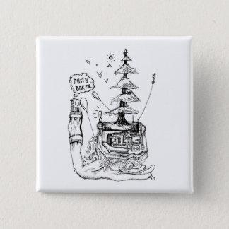 Bäcker-Knopf Quadratischer Button 5,1 Cm