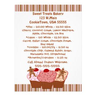 Bäckerei-Geschäfts-Flyer 21,6 X 27,9 Cm Flyer