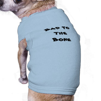 Bad du the Mütze - Roupinha dog Ärmelfreies Hunde-Shirt