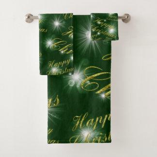 Bad-Tuch-Set, Feiertag, glückliches Weihnachten Badhandtuch Set