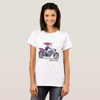 Badass unicorn on a motorcycle T-Shirt