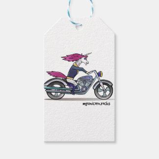 Badass unicorn on motorcycle - Knallhartes Einhorn Geschenkanhänger