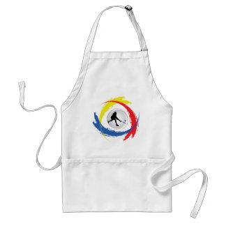 Badminton-Tricolor Emblem Schürze
