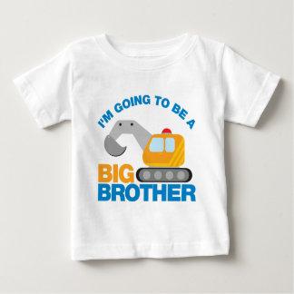 Bagger-LKW, der geht, ein großer Bruder zu sein Baby T-shirt