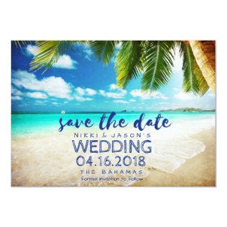 Bahamas-Strand-Hochzeit in Urlaubsort retten die 12,7 X 17,8 Cm Einladungskarte