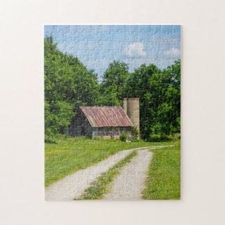 Bahn durch einen Bauernhof Puzzle