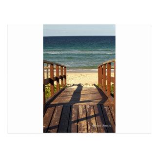 Bahn zu Beach.jpg Postkarte