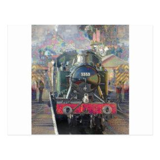 Bahnen und Dampf Postkarten