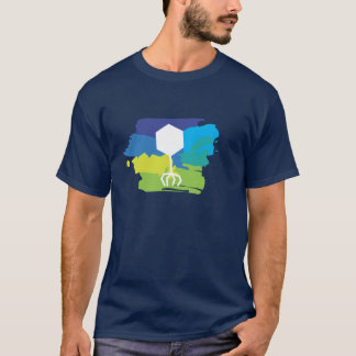 Bakteriophagenlogo-T - Shirt (Mehrfarben;