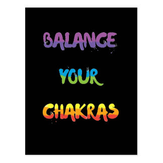 Balancieren Sie Ihre chakras Postkarten