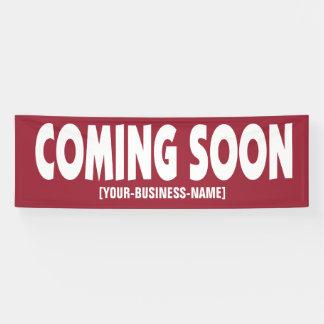 Bald kommen Geschäfts-Öffnungs-Zeichen-Fahne Banner