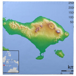 Bali-Karte Stoffserviette