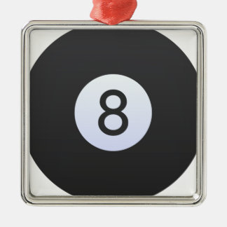 Ball 8 silbernes ornament