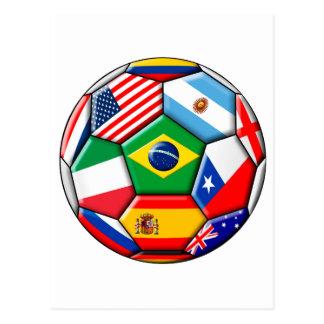 Ball mit Flaggen Postkarte