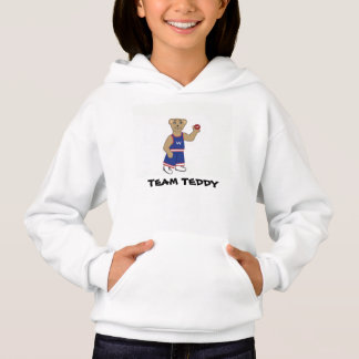 Ball-Spieler-Teddybär, Hoodie-T-Shirt Hoodie