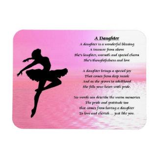 Ballerina-Entwurf - Tochter-Gedichtmagnet Magnet