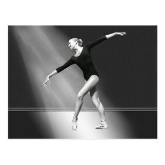 Ballerina in der Schwarzweiss-Postkarte Postkarte