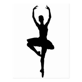 BALLERINA-PIROUETTE (Balletttanz-Silhouette) ~~ Postkarte