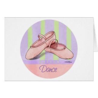 Ballerina Slippes Karte