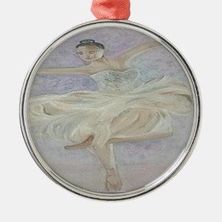 Ballerina-Tänzer Silbernes Ornament