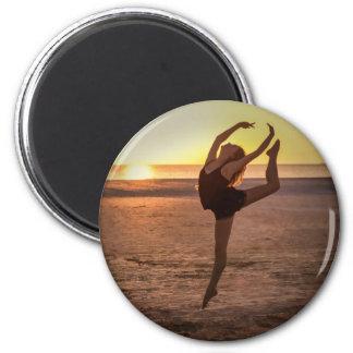 Ballett auf dem Strand-Magneten Runder Magnet 5,1 Cm