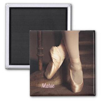 Ballett-Ballerina-Tanz-Erwägungsgrund Quadratischer Magnet
