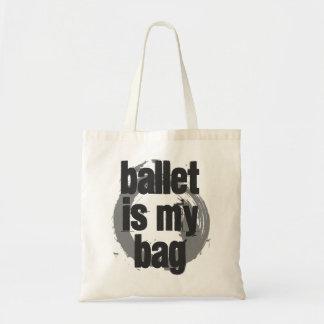 Ballett ist meine Taschen-weiße u. graue Tragetasche
