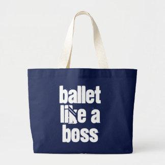 Ballett mögen einen Chef - Marine u. weiße riesige Jumbo Stoffbeutel