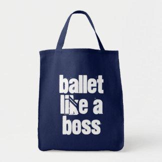 Ballett mögen einen Chef - Marine u. weiße Tragetasche