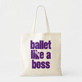 Ballett mögen einen Chef - weiße u. lila Tragetasche