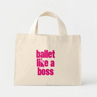 Ballett mögen einen Chef - weiße u. rosa Mini Stoffbeutel