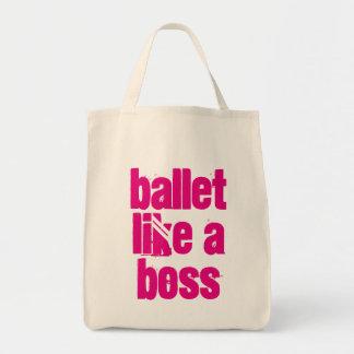 Ballett mögen einen Chef - weiße u. rosa Tragetasche