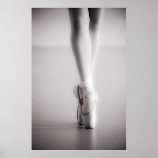 Ballett Pointe beschuht Sepia-Tanzen-Pantoffel Poster