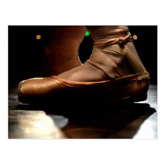 Ballett Pointe Schuh-Postkarte Postkarte