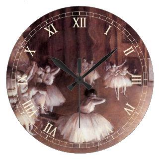 Ballett-Probe auf der Bühne durch Edgar entgasen Wanduhr