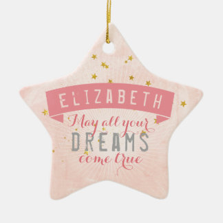 Ballett-rosa Baby-süße Träume Keramik Ornament