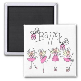 Ballett-T - Shirts und Geschenke Quadratischer Magnet
